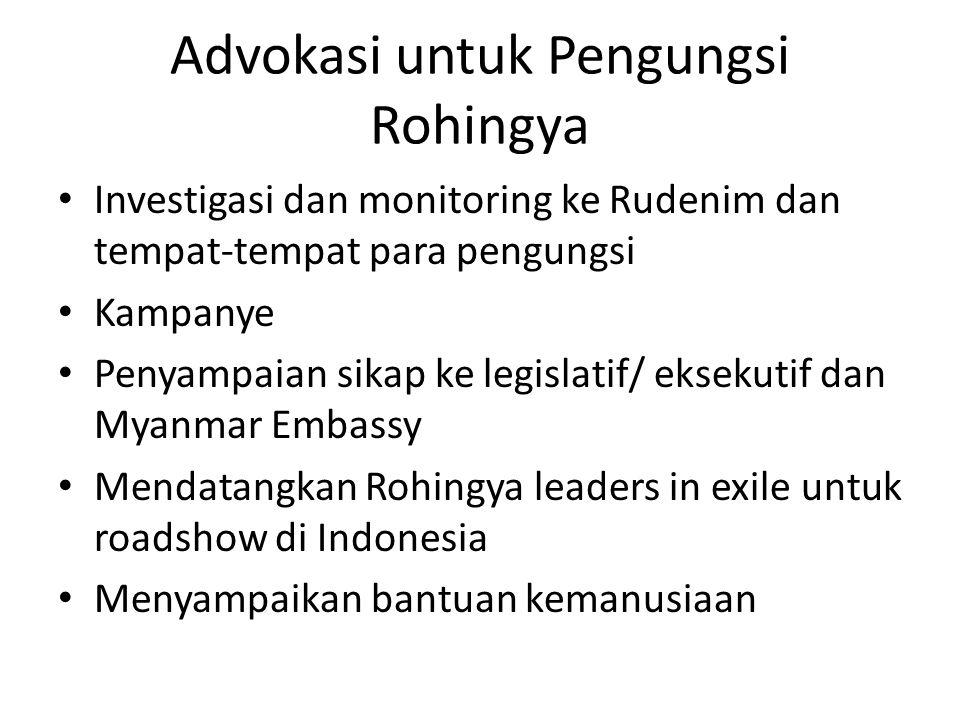 Advokasi untuk Pengungsi Rohingya