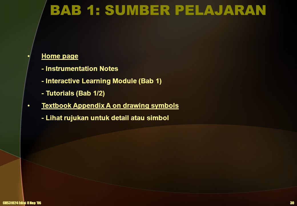 BAB 1: SUMBER PELAJARAN Home page - Instrumentation Notes
