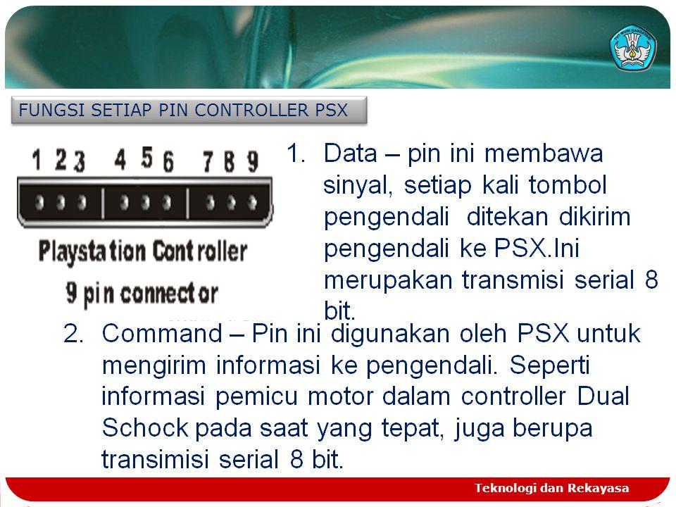 Ground – memberikan tegangan 5 volt pada pengendali PSX.