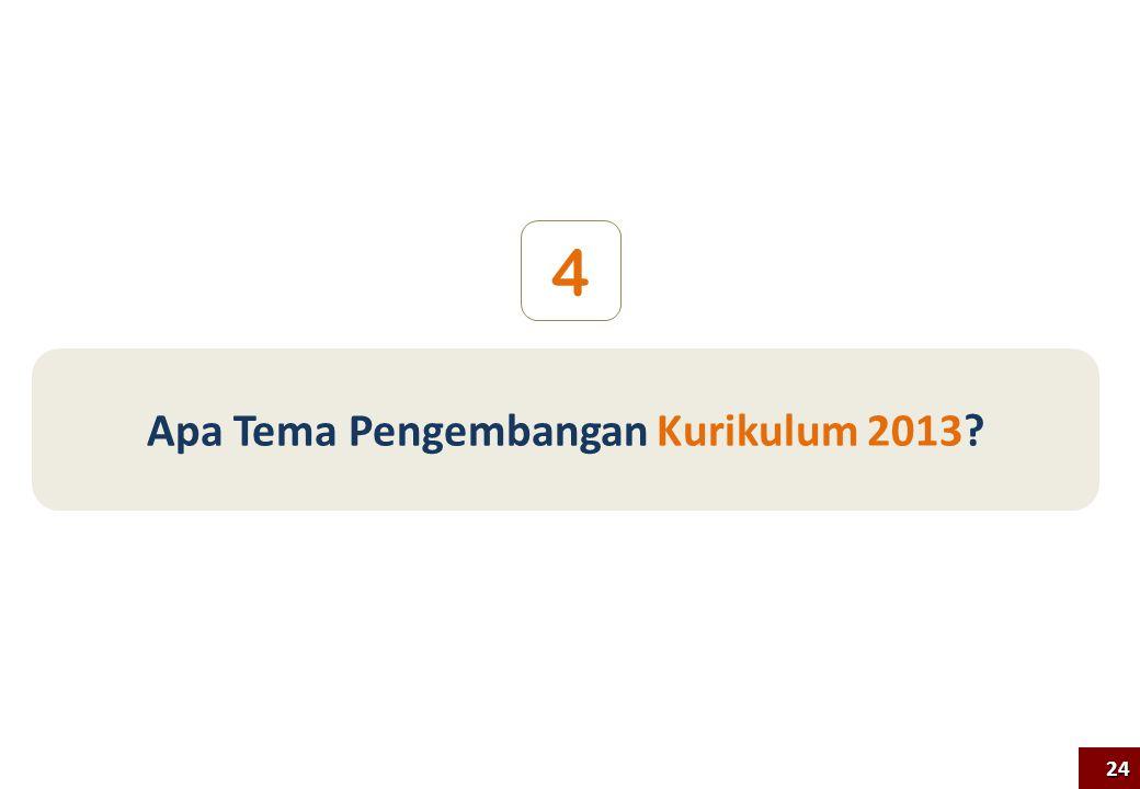 Apa Tema Pengembangan Kurikulum 2013