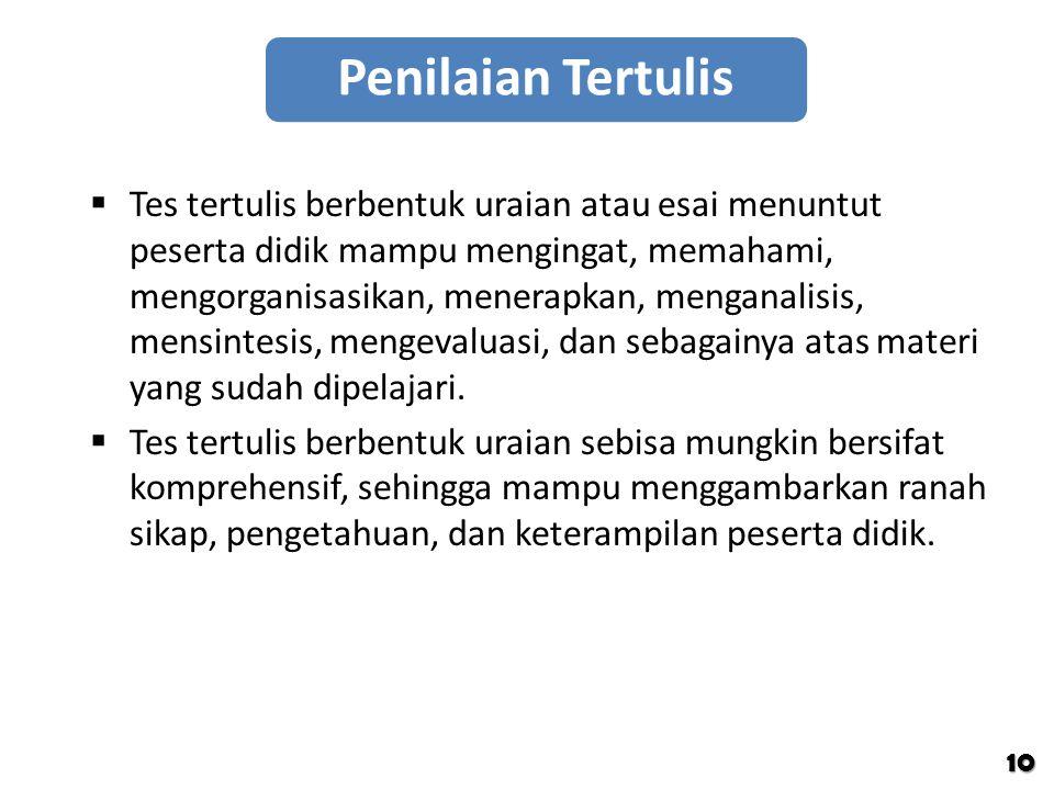 Penilaian Tertulis
