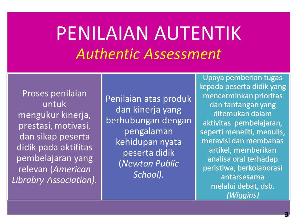 PENILAIAN AUTENTIK Authentic Assessment