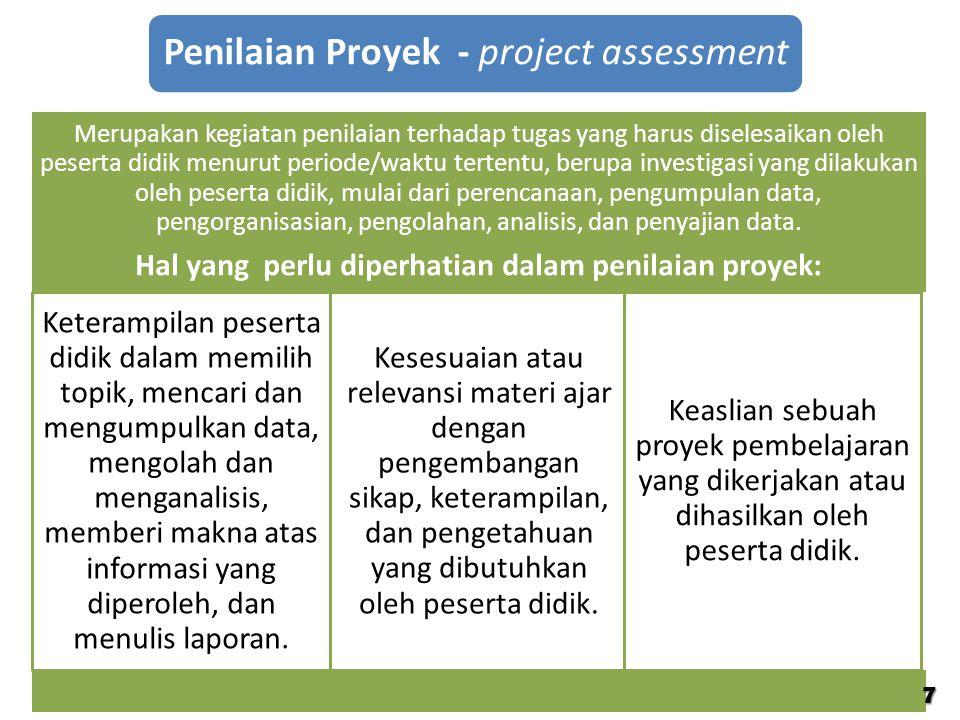 Hal yang perlu diperhatian dalam penilaian proyek: