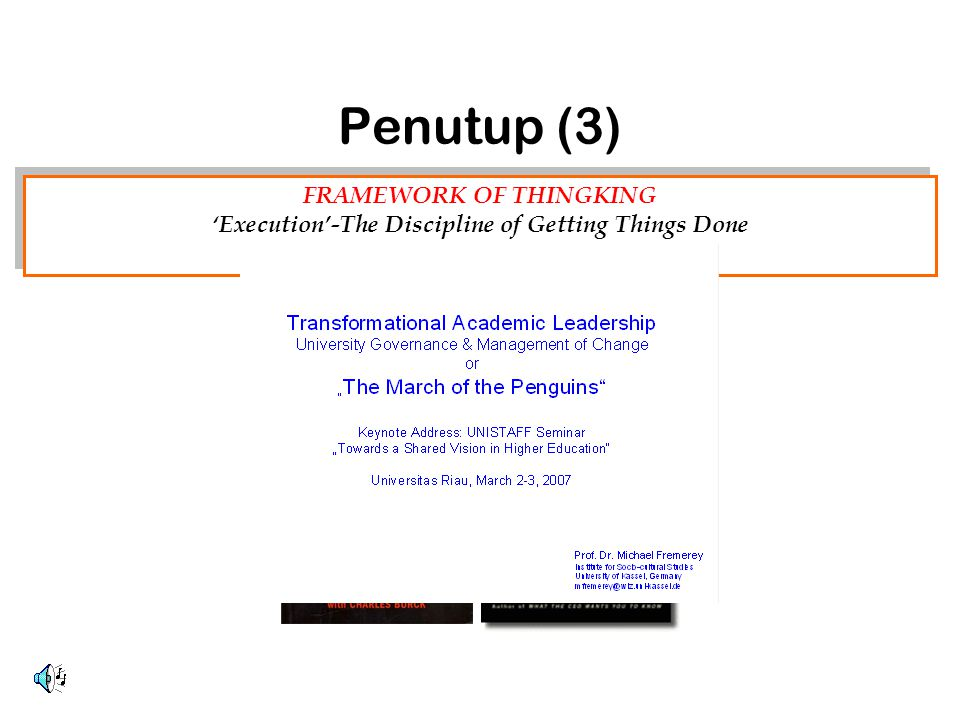 FRAMEWORK OF THINGKING