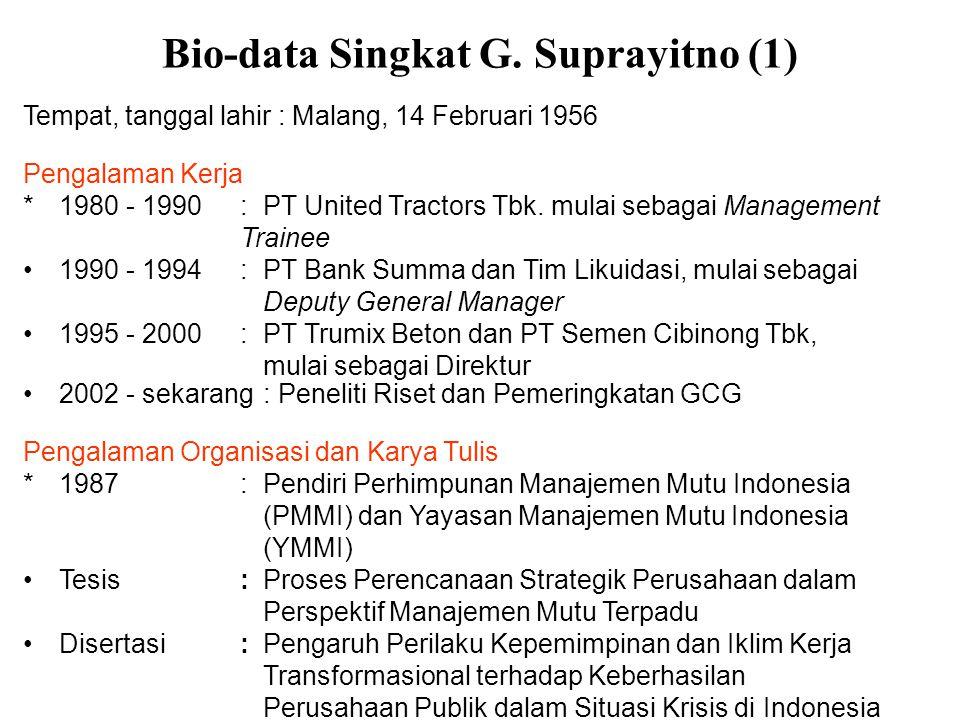 Bio-data Singkat G. Suprayitno (1)
