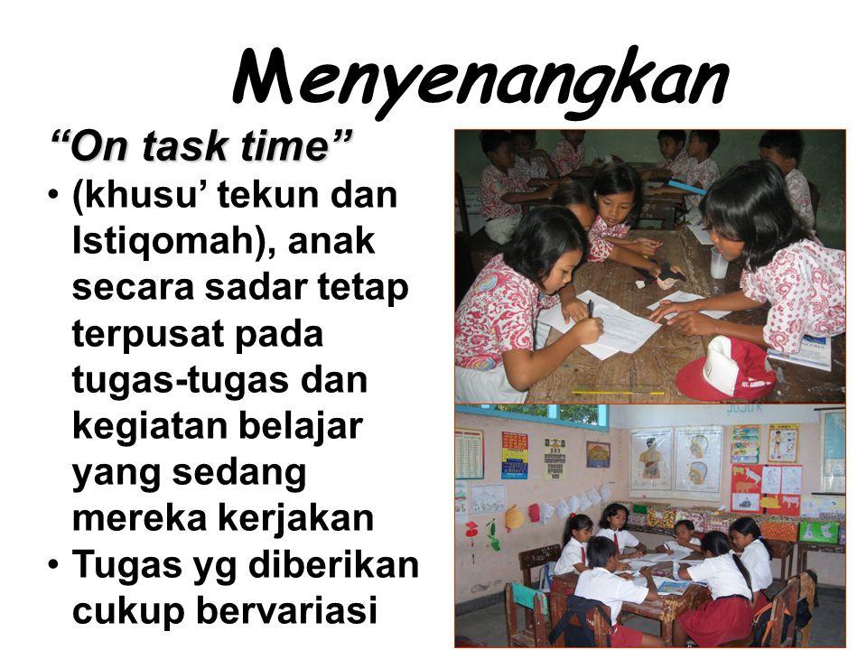 Menyenangkan On task time