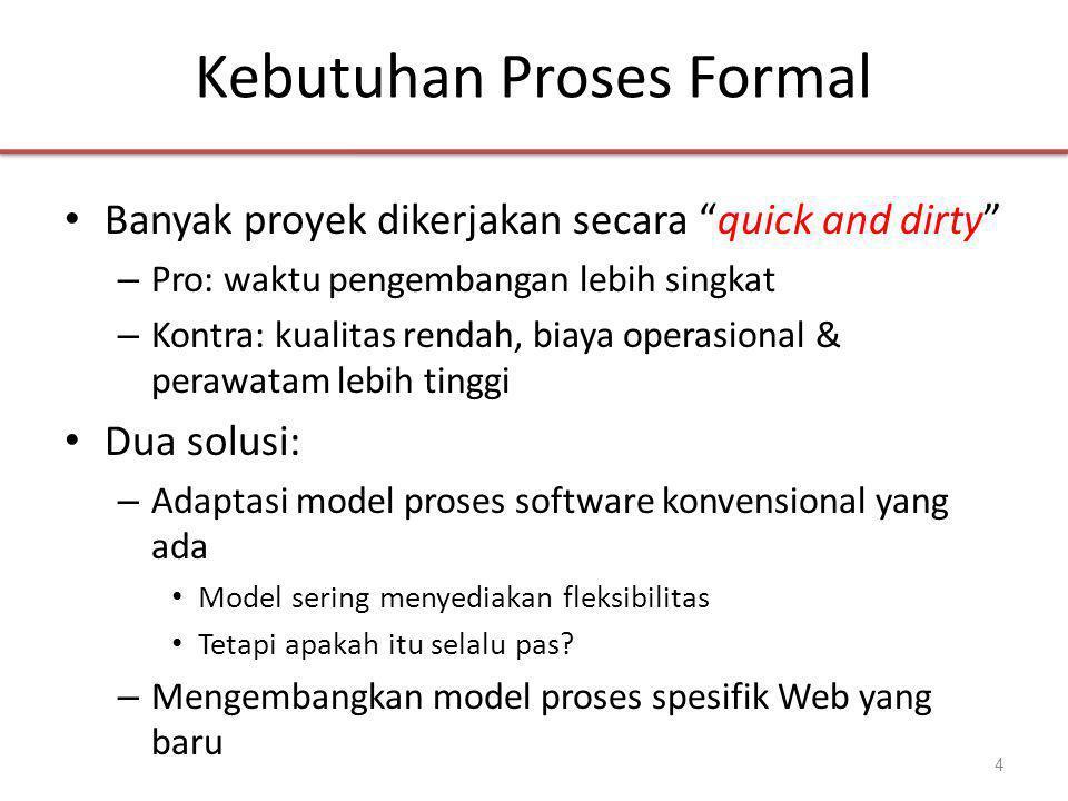 Kebutuhan Proses Formal
