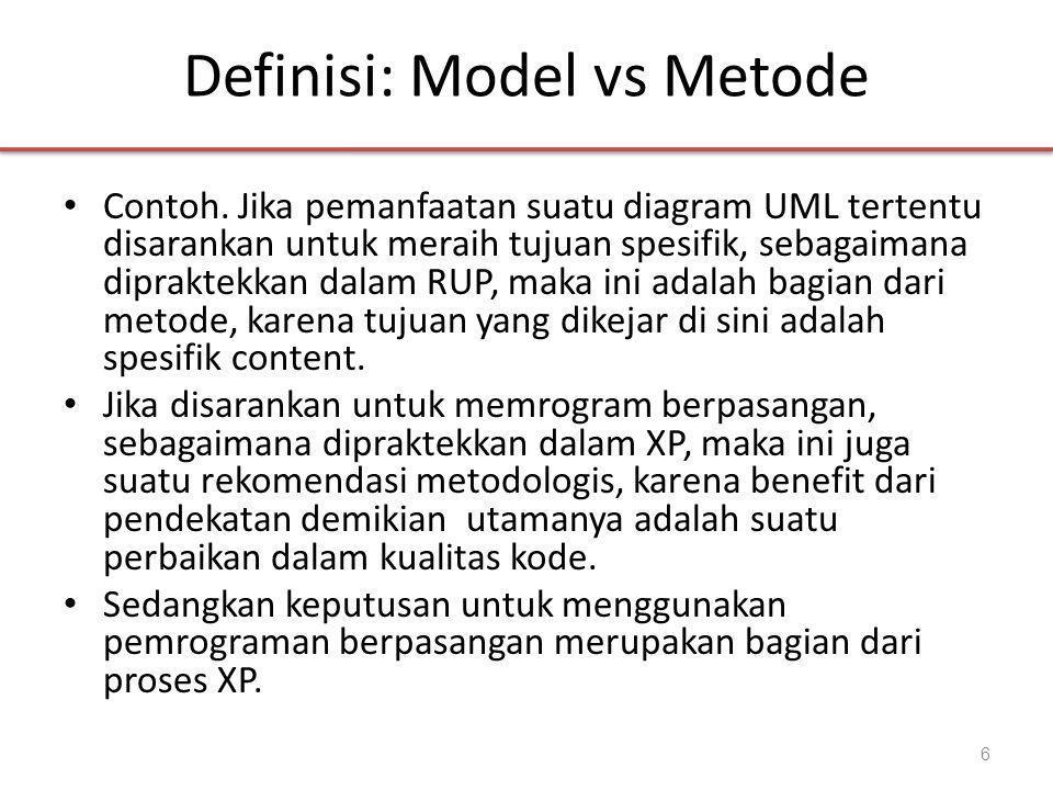 Definisi: Model vs Metode