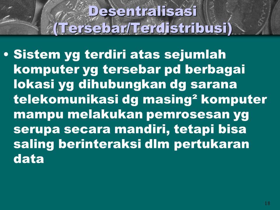 Desentralisasi (Tersebar/Terdistribusi)