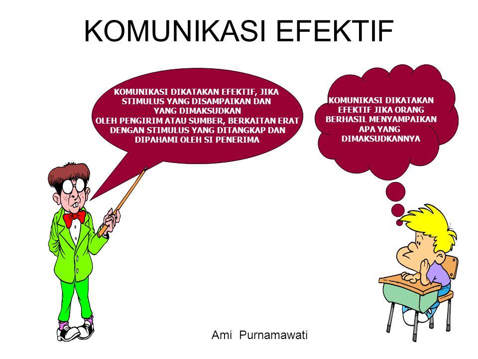 KOMUNIKASI EFEKTIF Ami Purnamawati KOMUNIKASI DIKATAKAN EFEKTIF, JIKA