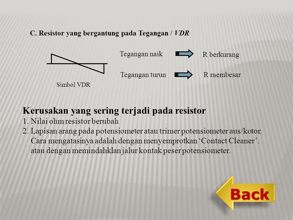 Back Kerusakan yang sering terjadi pada resistor