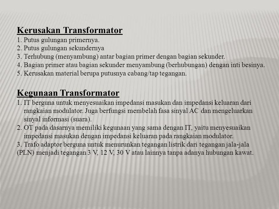 Kerusakan Transformator