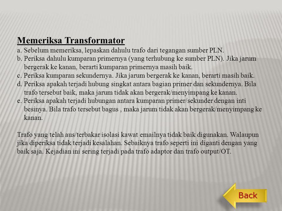 Memeriksa Transformator