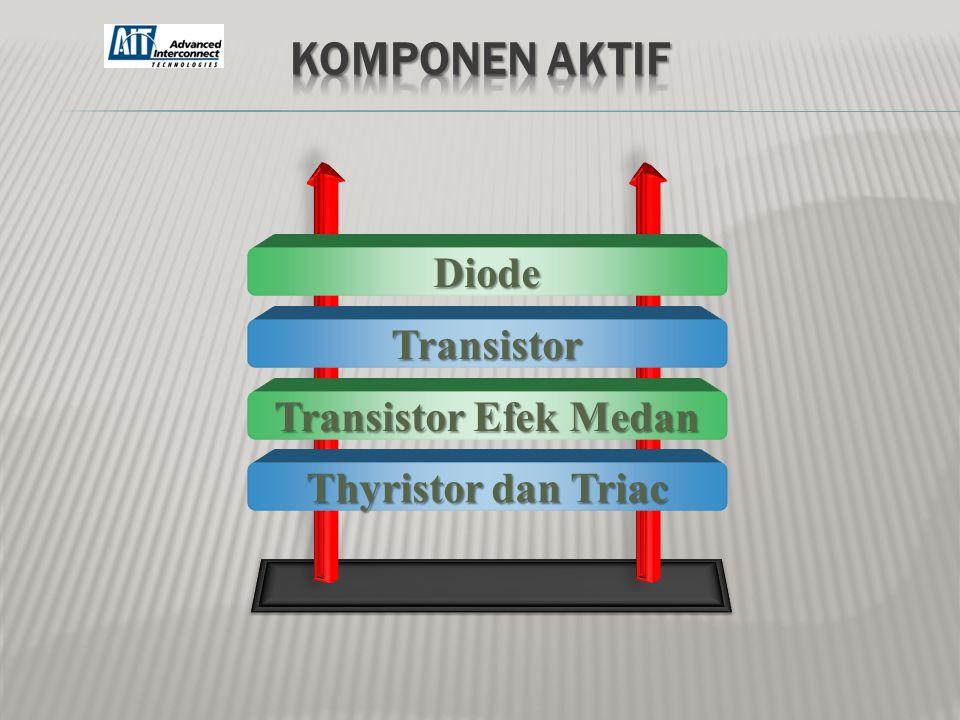 Komponen Aktif Diode Transistor Transistor Efek Medan