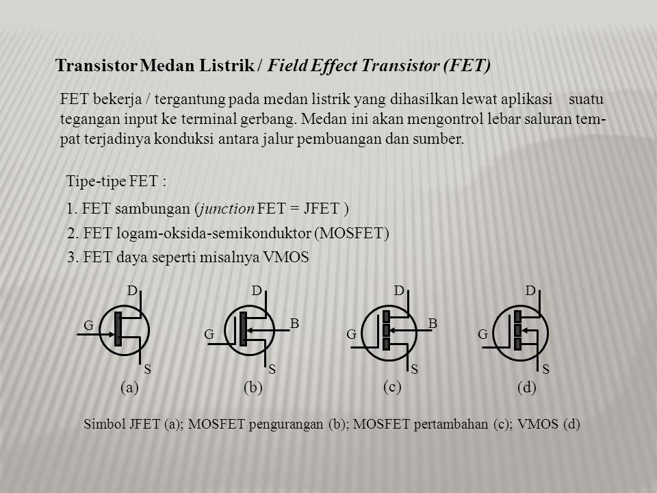 Transistor Medan Listrik / Field Effect Transistor (FET)