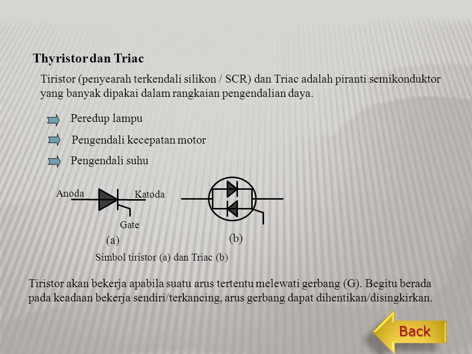 Thyristor dan Triac Back