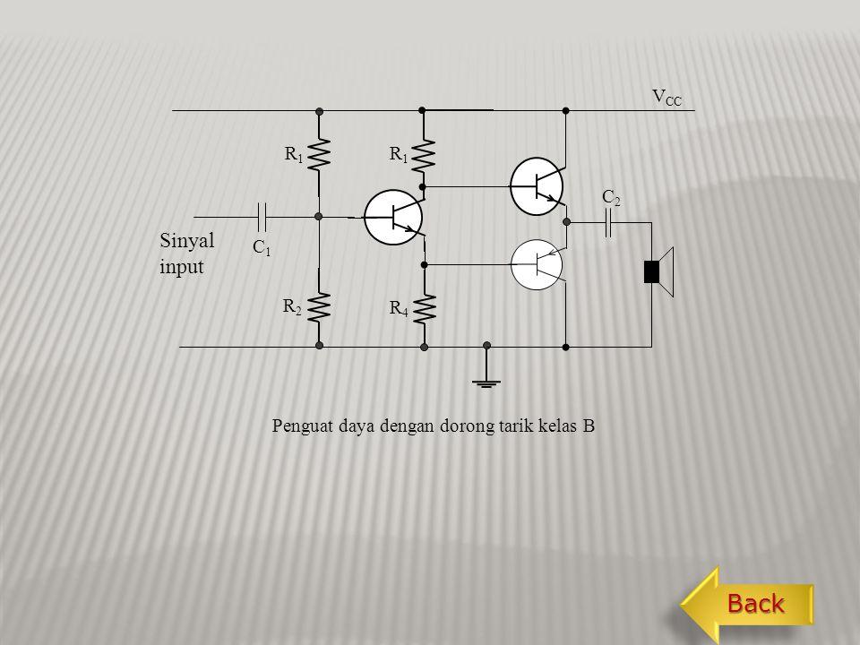 Back Sinyal input VCC R1 C2 C1 R2 R4