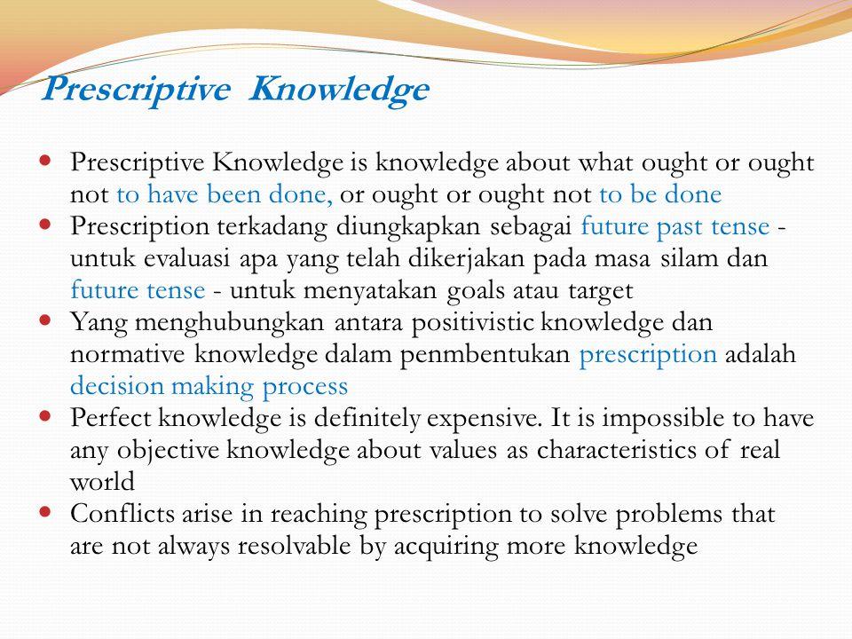 Prescriptive Knowledge