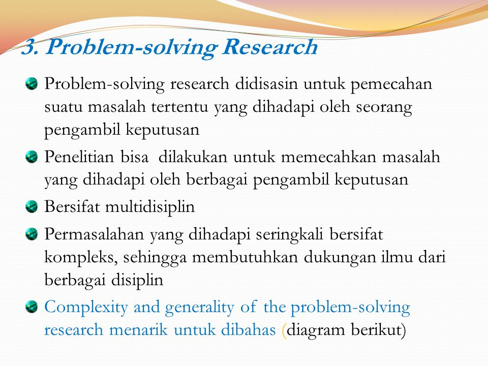 3. Problem-solving Research