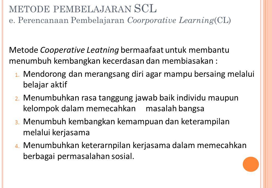 metode pembelajaran SCL e