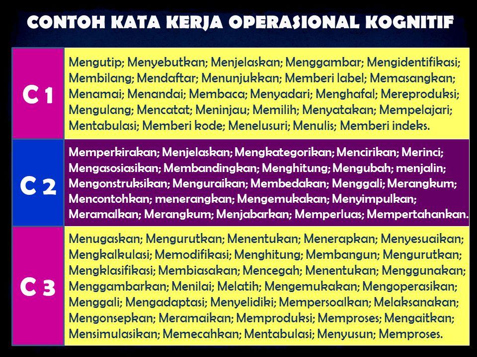 CONTOH KATA KERJA OPERASIONAL KOGNITIF