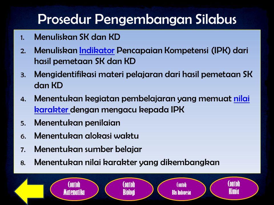 Prosedur Pengembangan Silabus