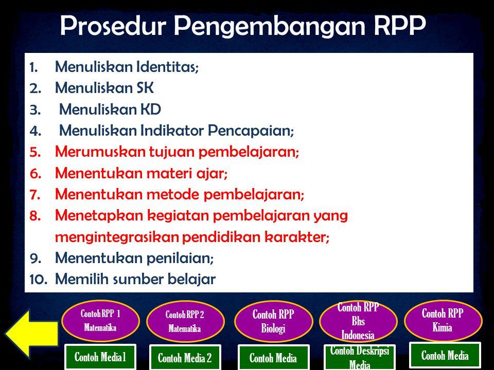 Prosedur Pengembangan RPP