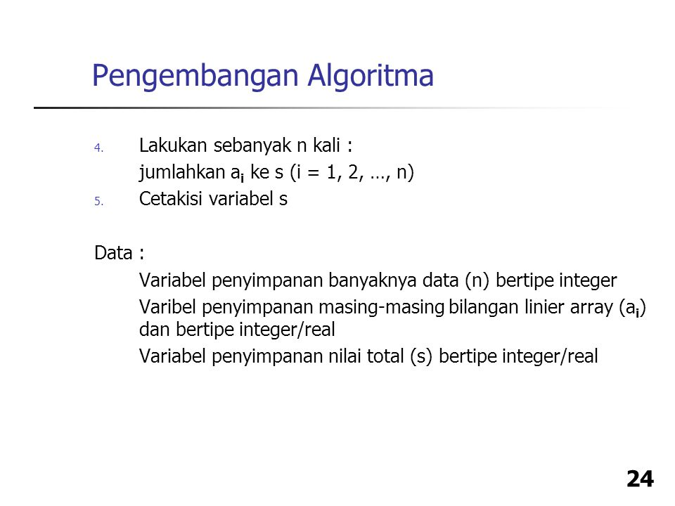 Pengembangan Algoritma