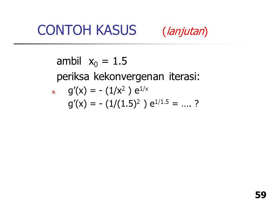 CONTOH KASUS (lanjutan)