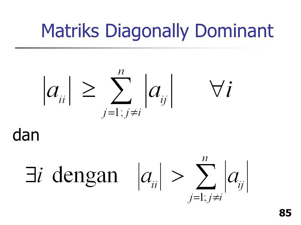 Matriks Diagonally Dominant