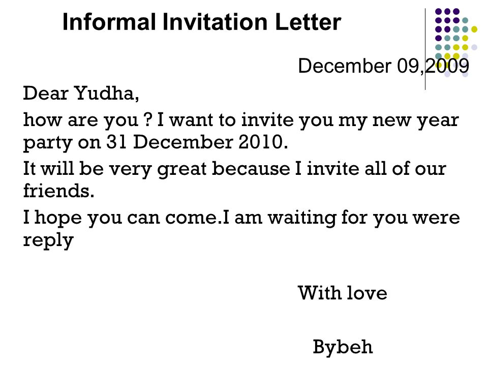 Informal Invitation Letter