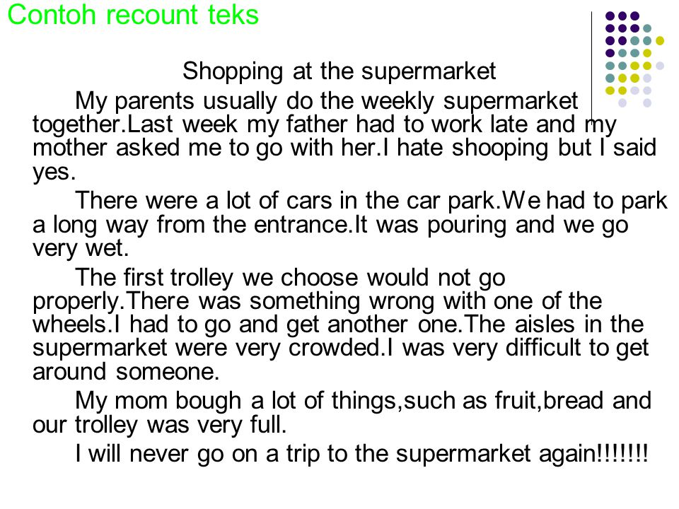 Shopping at the supermarket