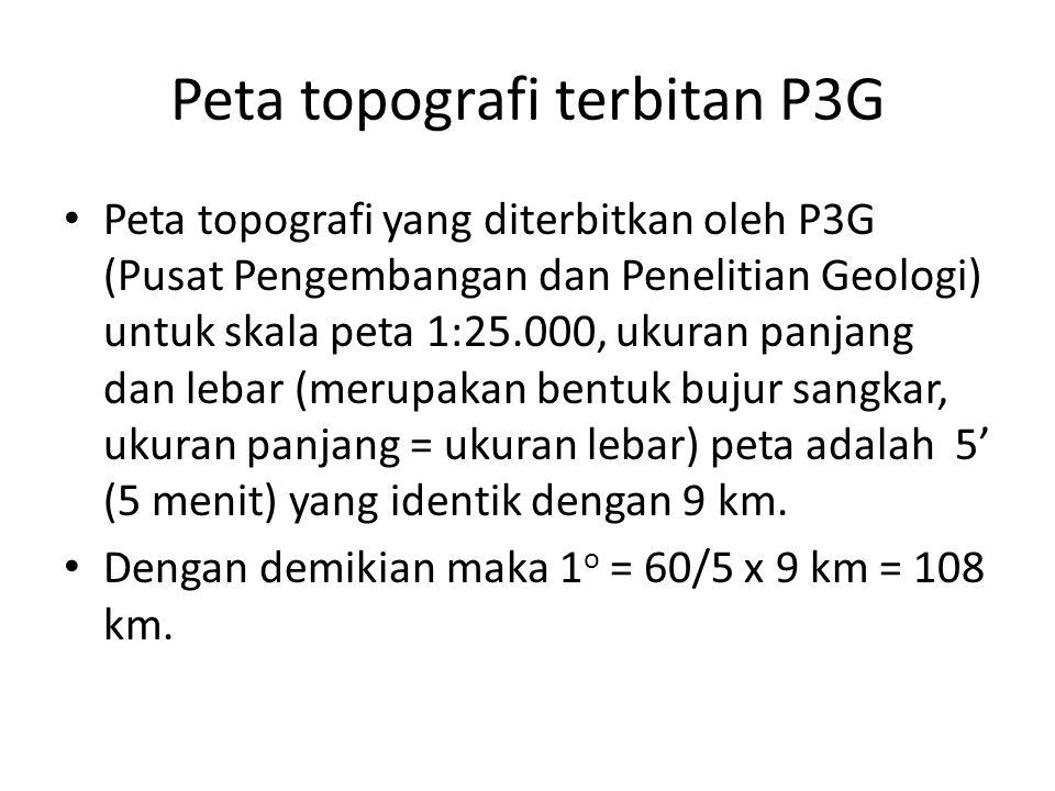 Peta topografi terbitan P3G