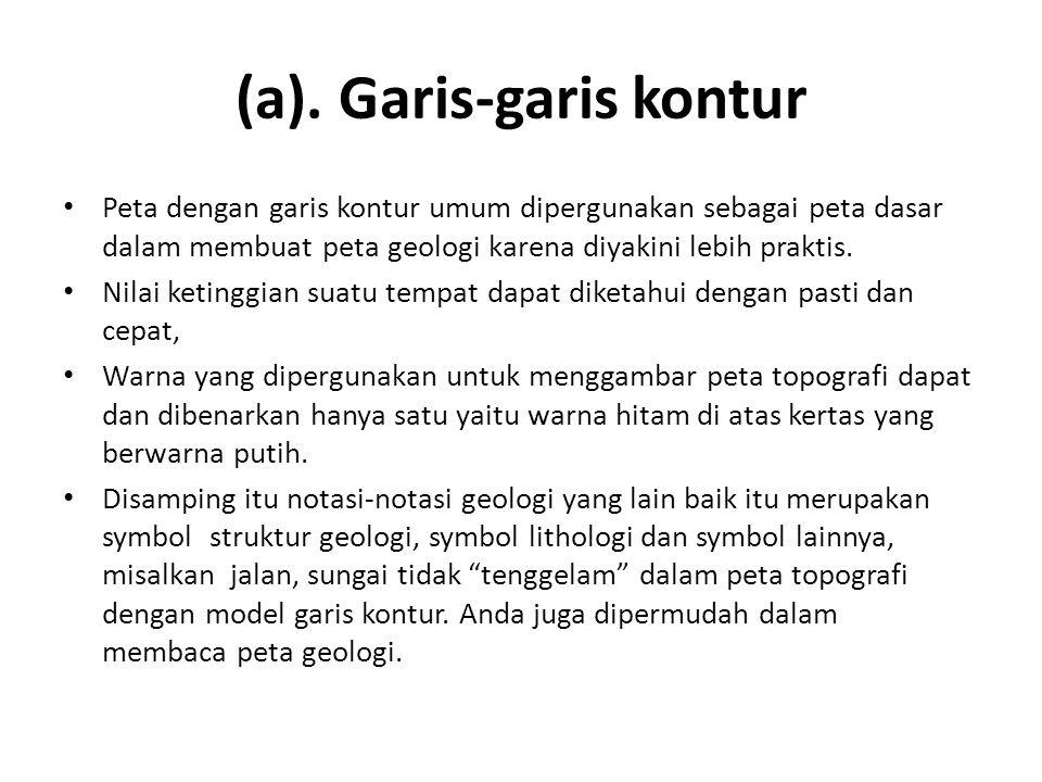 (a). Garis-garis kontur