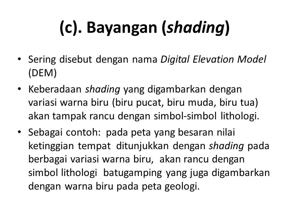 (c). Bayangan (shading)