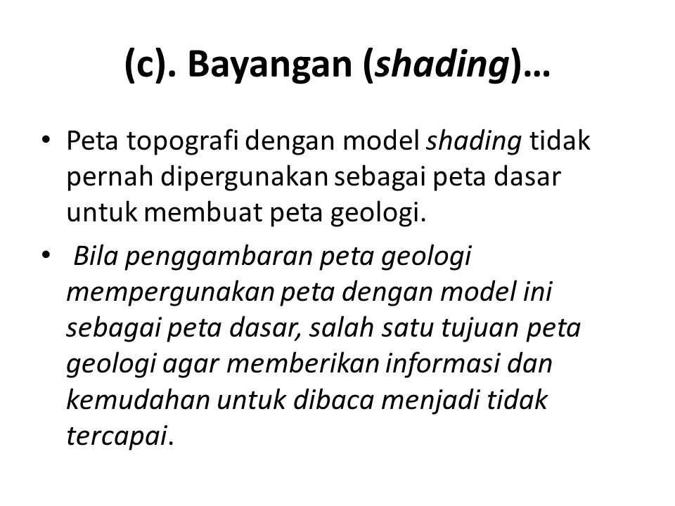 (c). Bayangan (shading)…