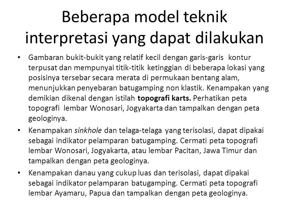 Beberapa model teknik interpretasi yang dapat dilakukan