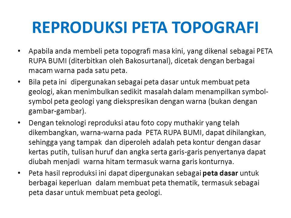 REPRODUKSI PETA TOPOGRAFI