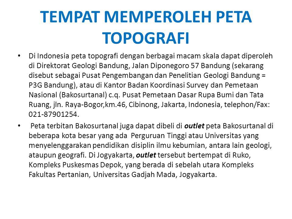 TEMPAT MEMPEROLEH PETA TOPOGRAFI