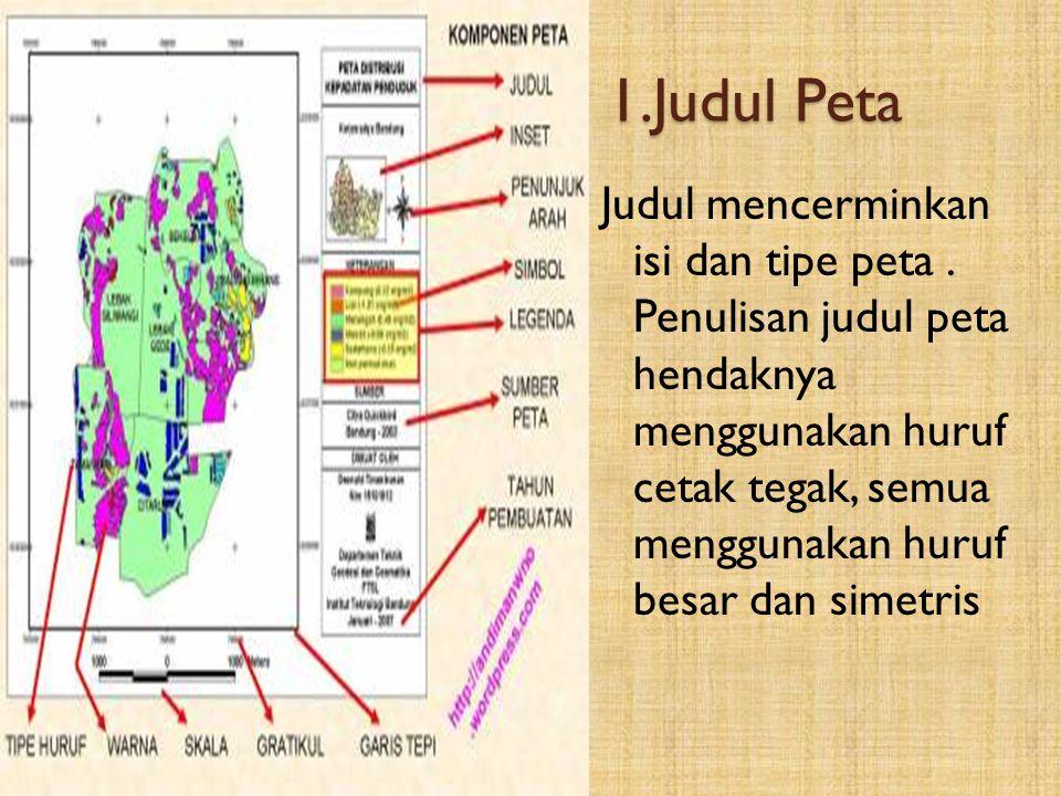 1.Judul Peta