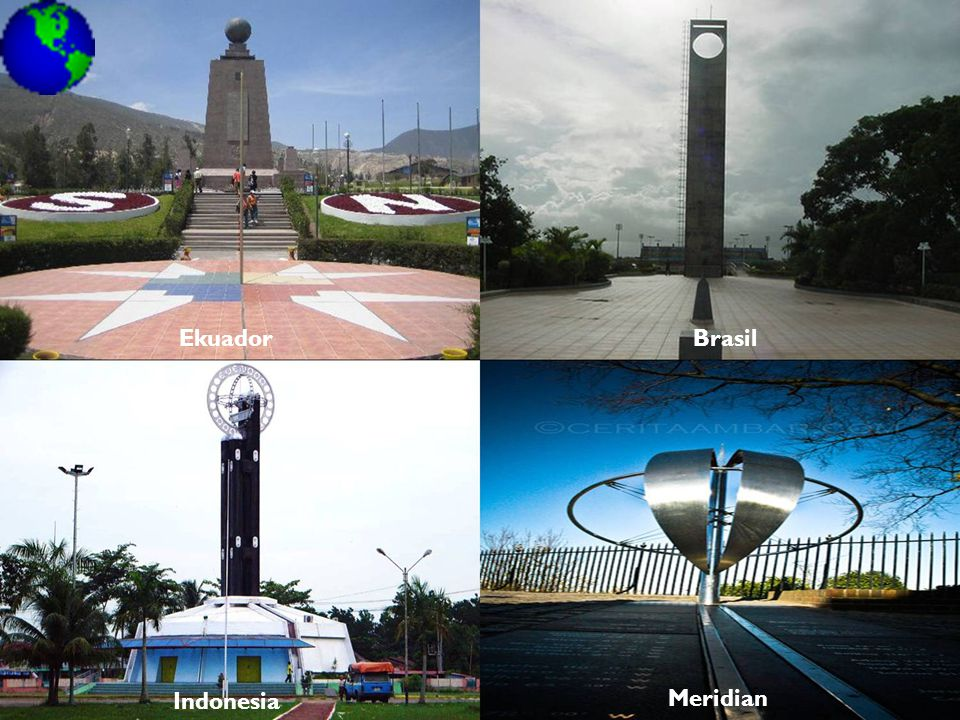 Ekuador Brasil Indonesia Meridian
