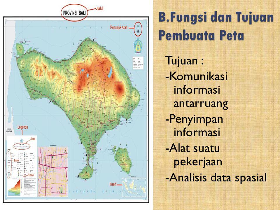 B.Fungsi dan Tujuan Pembuata Peta