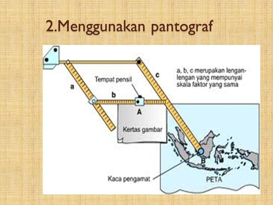 2.Menggunakan pantograf