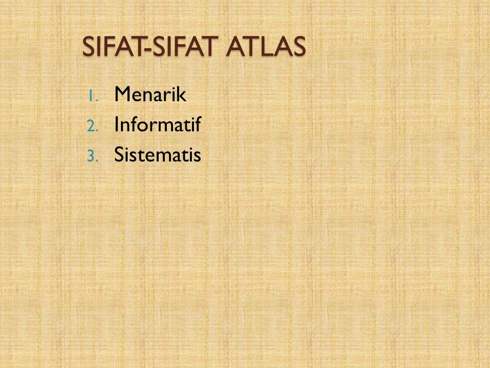SIFAT-SIFAT ATLAS Menarik Informatif Sistematis