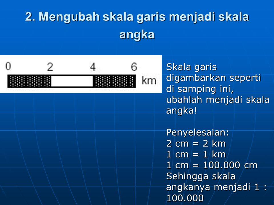 2. Mengubah skala garis menjadi skala angka