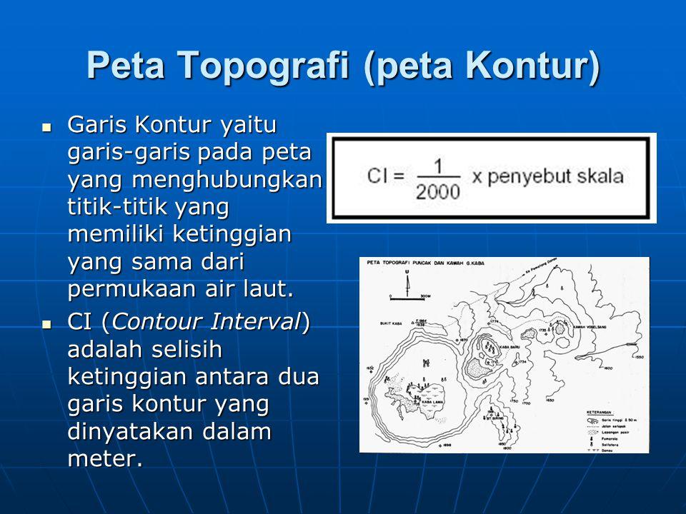 Peta Topografi (peta Kontur)