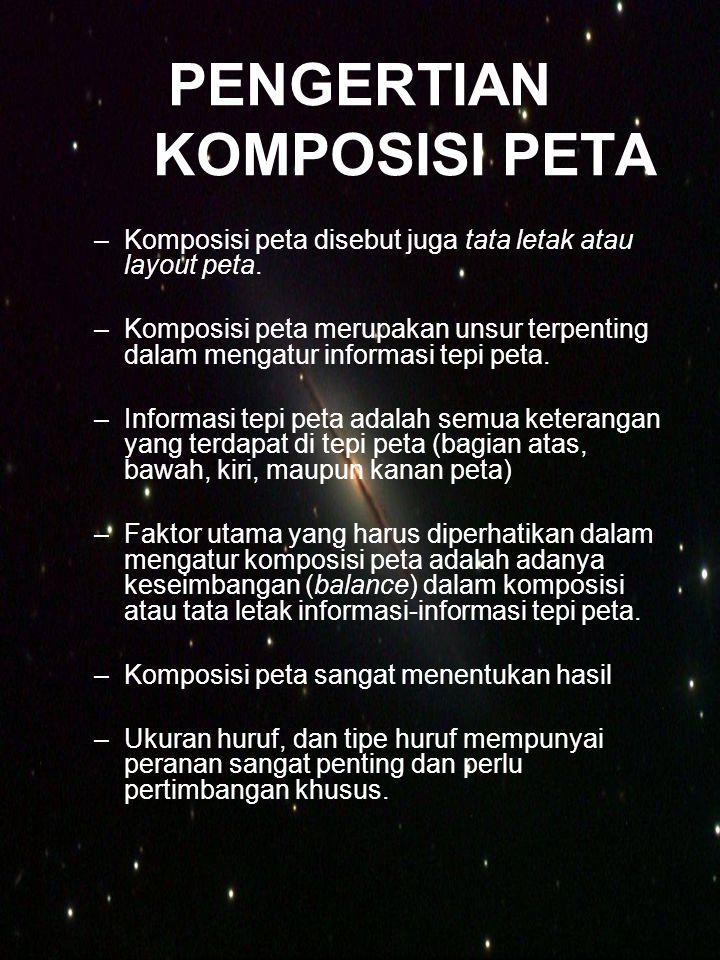 PENGERTIAN KOMPOSISI PETA