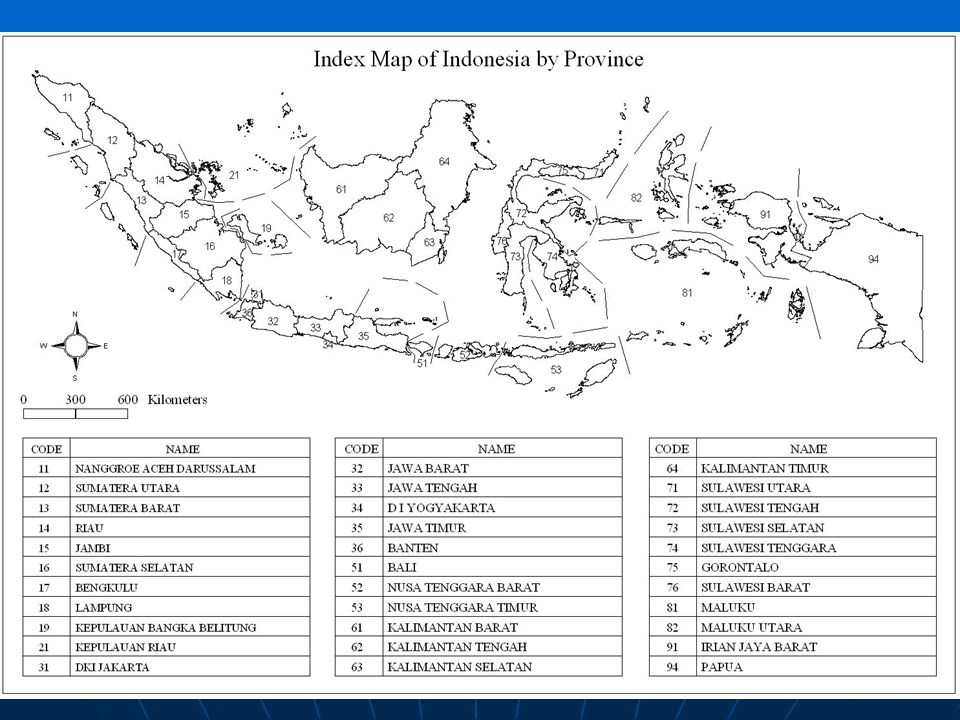 Administrative Area Index Map