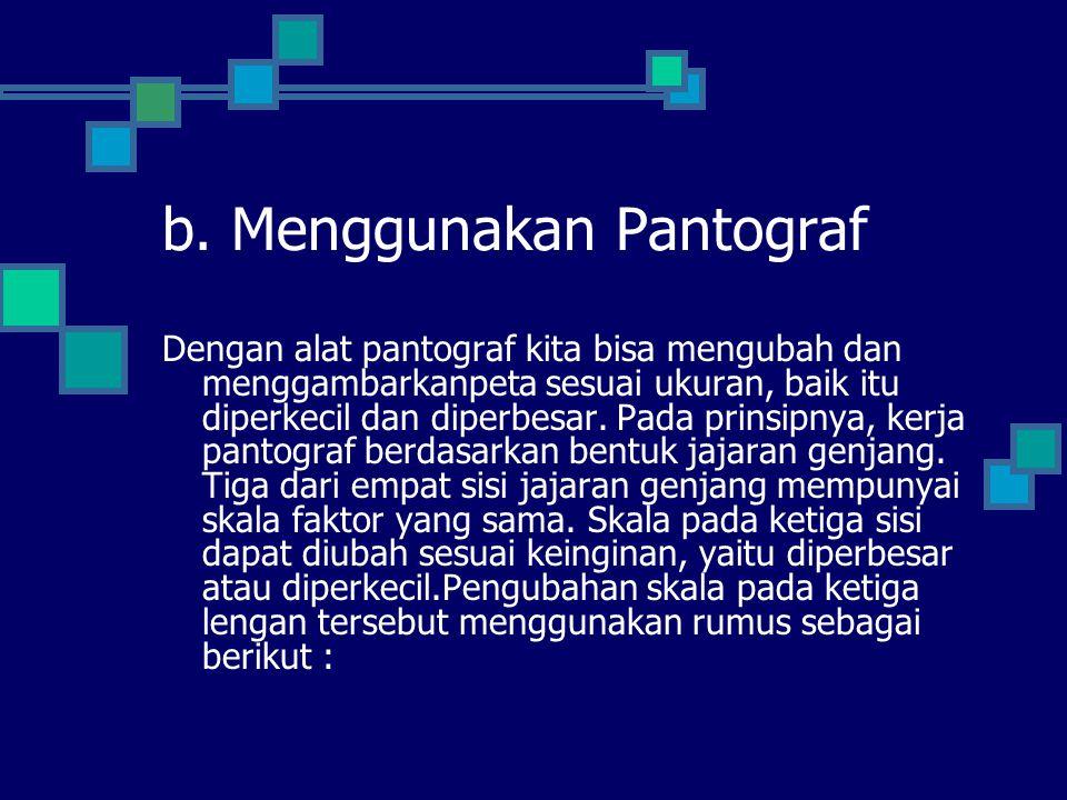 b. Menggunakan Pantograf
