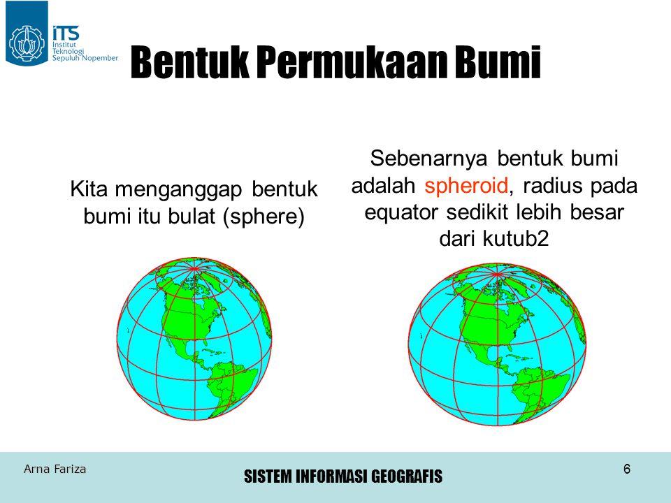 Bentuk Permukaan Bumi Sebenarnya bentuk bumi